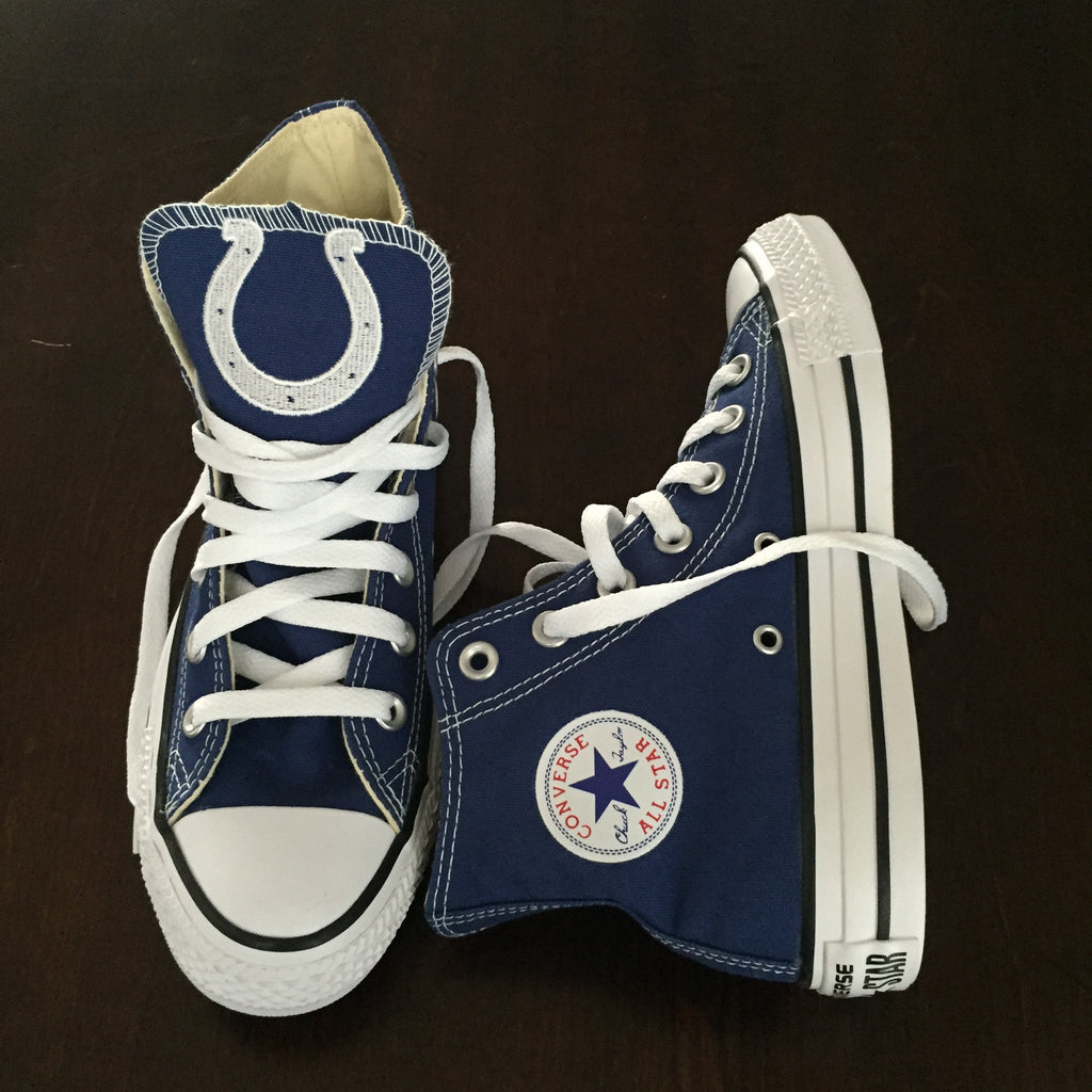 65811ea87a09 Customized Converse Sneakers- Indianapolis Colts Edition – Monogram Eye  Candy