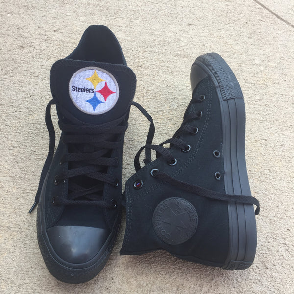 Customized Converse Sneakers- Steelers Edition