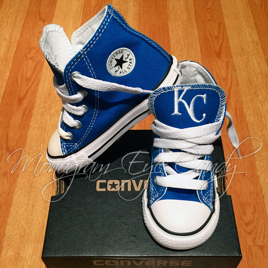 Customized Converse Sneakers- KC Royals (Toddler)