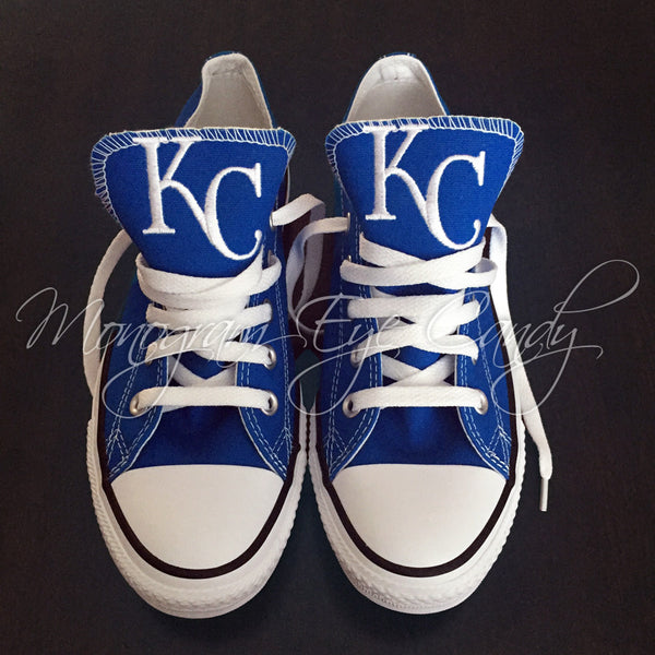 Customized Converse Sneakers- KC Royals Edition
