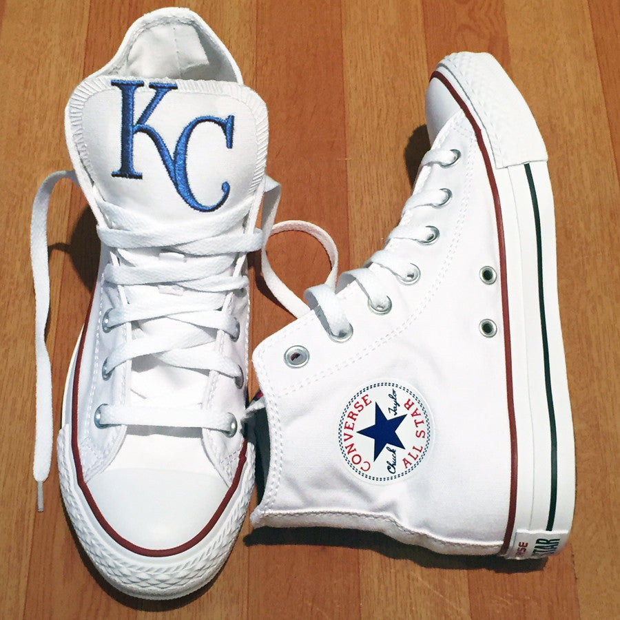 Customized Converse Sneakers- KC Royals Edition-High Top