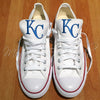 Customized Converse Sneakers- KC Royals Edition-White