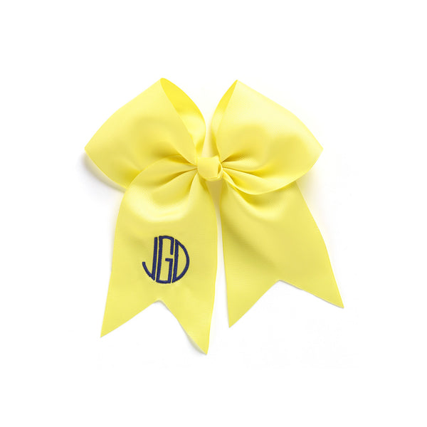 Monogram Hair Bow-Yellow