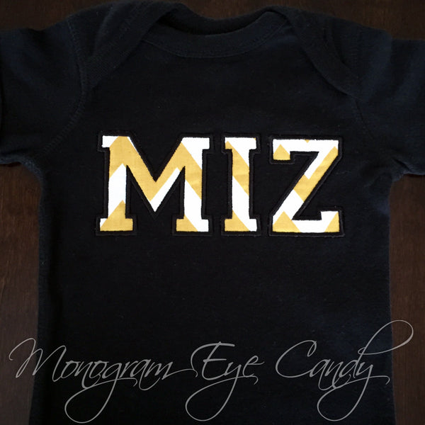 MIZ Applique Onesie or Tee