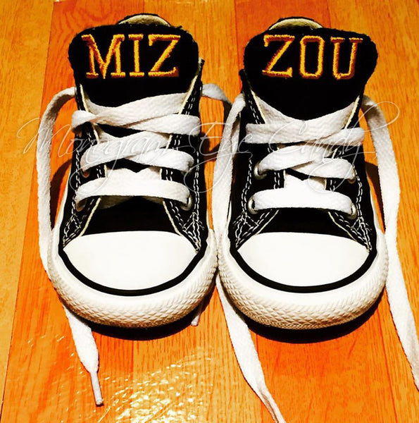 Customized Converse Sneakers- MIZZOU Edition (Baby/Toddler)