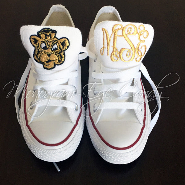 Customized Converse Sneakers-Vintage Tiger/Monogram Edition