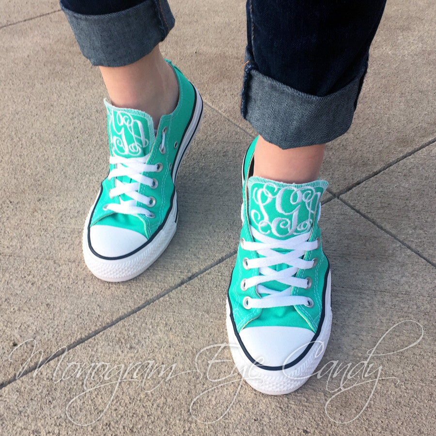 Monogram Converse Sneakers- Mint