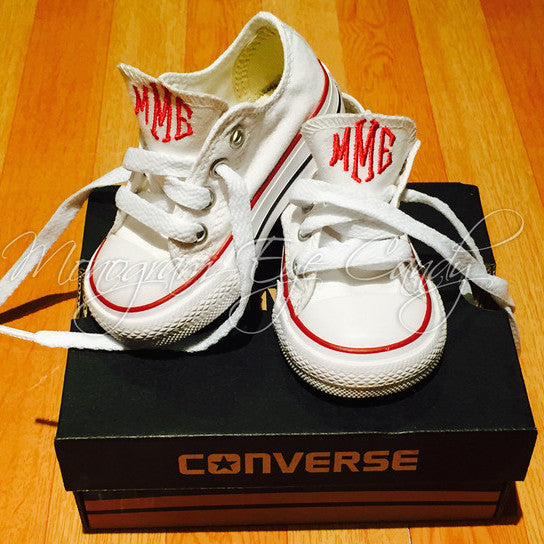 Monogram Toddler Converse Sneakers- Choose Your Shoe Color