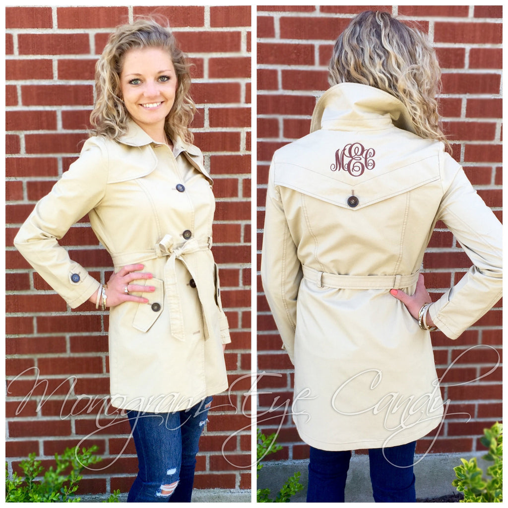 Monogram Trench Coat