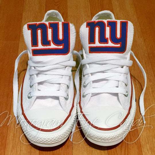 Customized Converse Sneakers- NY Giants Edition