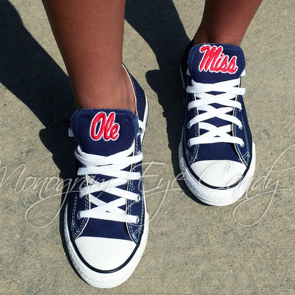 Customized Converse Sneakers- Ole Miss Edition