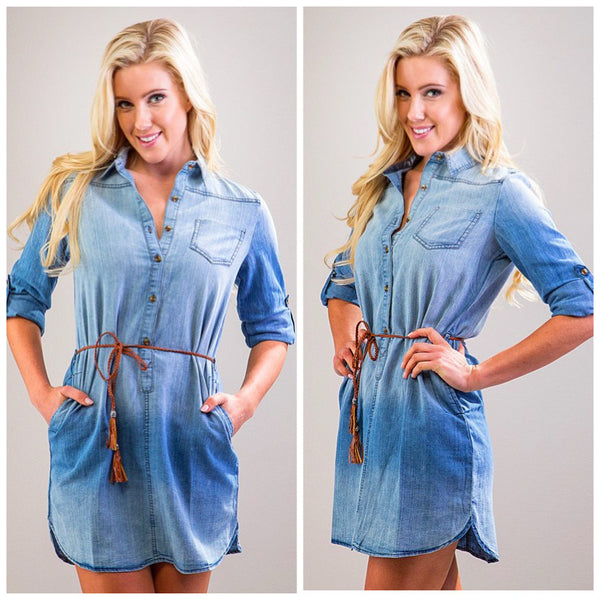 Monogram Denim Dress