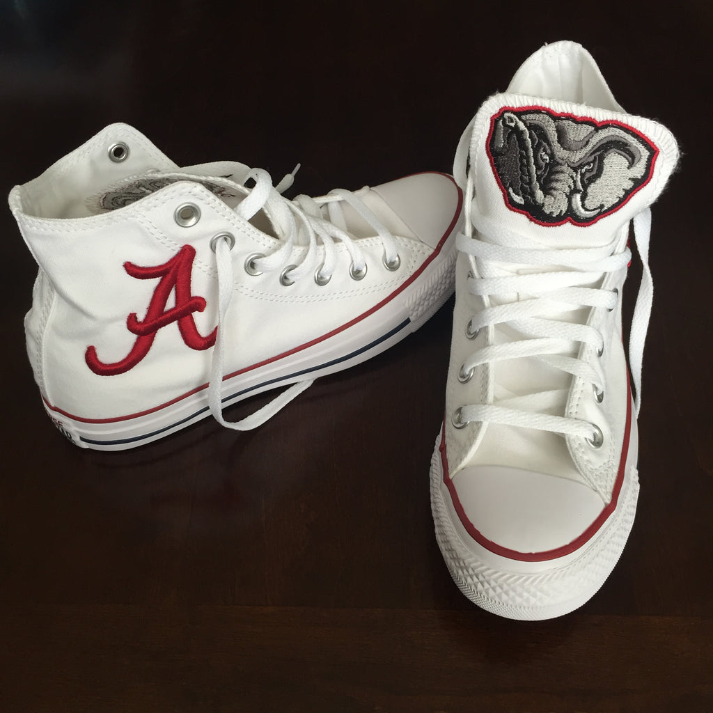 Customized Converse Sneakers- Bama Edition (Elephant and Raised A)