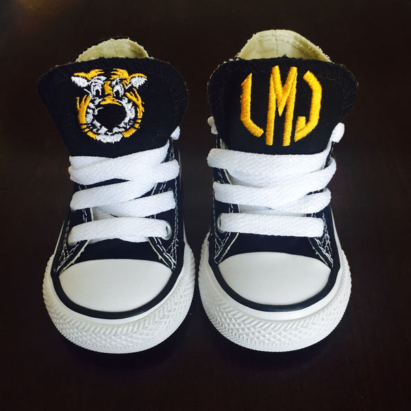 39d341274eb712 Customized Converse Sneakers- Truman Edition (Toddler)- Monogram High Top