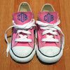 Monogram Toddler Converse Sneakers-Pink