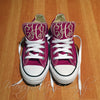 Monogram Converse Sneakers- Berry