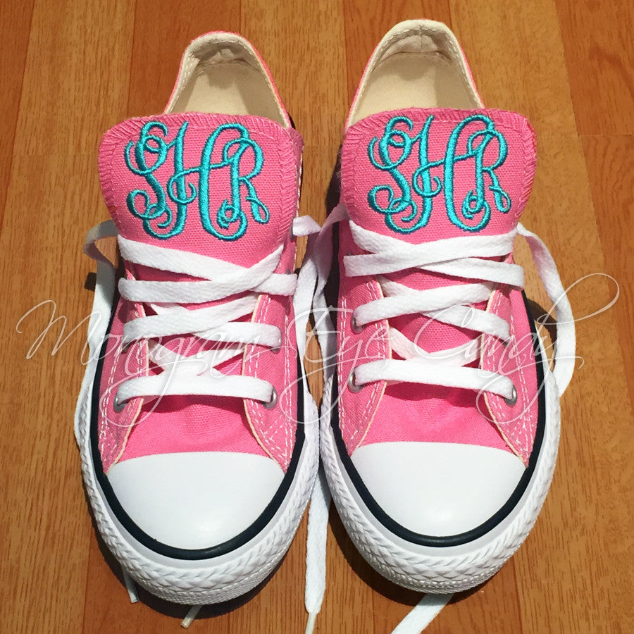 Monogram Converse Sneakers- Youth (Pink)