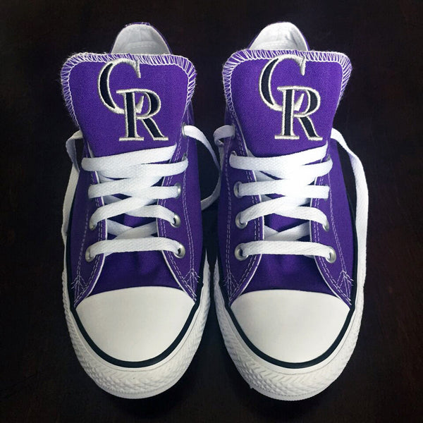Customized Converse Sneakers- Colorado Rockies Edition