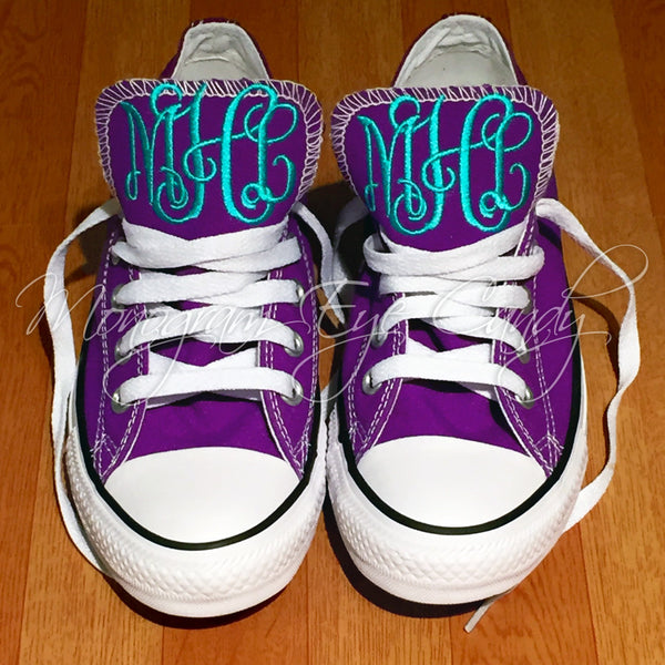 Monogram Converse Sneakers- Purple