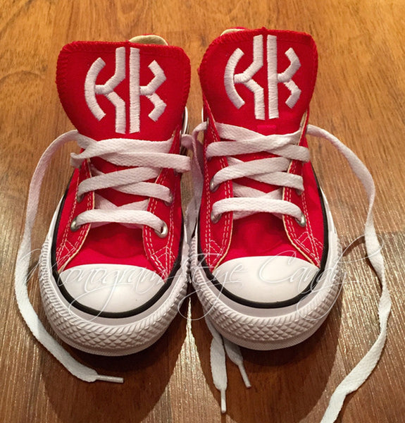 Monogram Converse Sneakers- Red