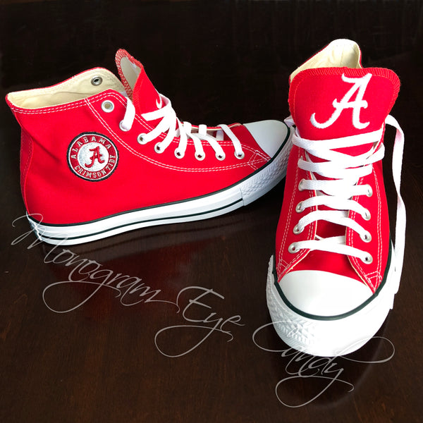 Customized Converse Sneakers- Bama Special Edition (Roll Tide)