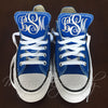 Monogram Converse Sneakers- Royal Blue