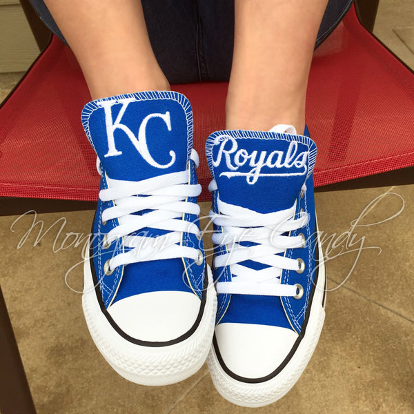 3aa921882665 Customized Converse Sneakers- KC Royals Special Edition