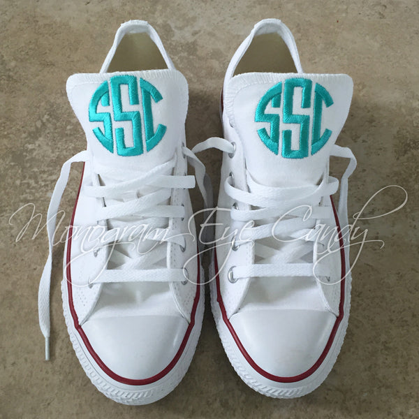 Monogram Converse Sneakers- White