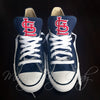 Customized Converse Sneakers- STL Cardinal Edition