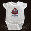 Patchwork Onesie- Sailboat