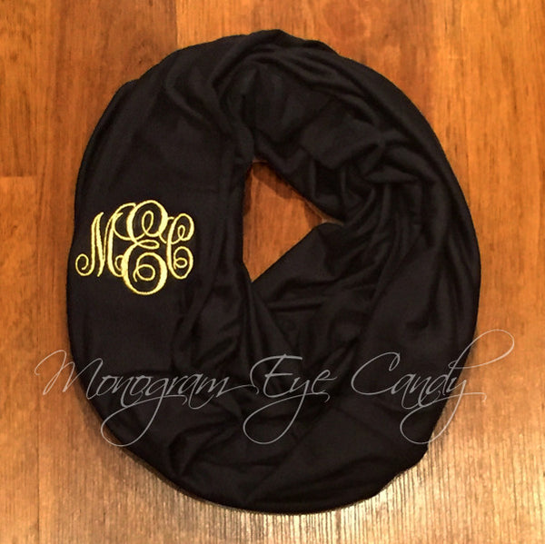 Black Knit Infinity Scarf