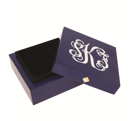 Monogrammed Bauble Box-Navy