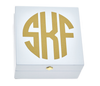 Monogrammed Bauble Box-White