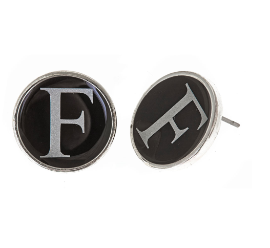 Monogrammed Small Earrings-Silver