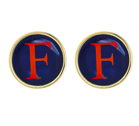Monogrammed Earrings-Gold