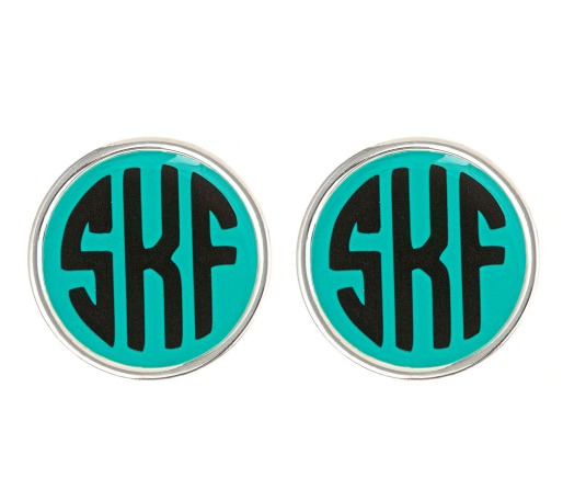 Monogrammed Earrings-Silver