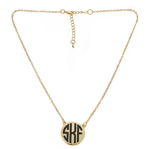Monogrammed Short Charleston- Gold