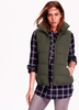 Monogram Quilted Puffer Vest- Olive