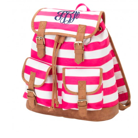 Hot Pink Stripe Campus Backpack