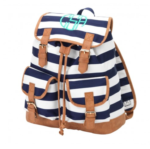 Navy Stripe Campus Backpack