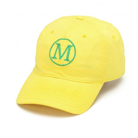 Monogrammed Yellow Cap