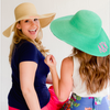 Monogram Floppy Hat- White