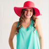 Monogram Floppy Hat- Coral