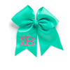 Monogram Hair Bow-Mint