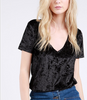 Monogram Velvet V-Neck - Black