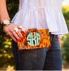 Monogrammed Tortoise Clutch- Interlocking