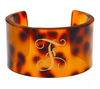 Monogrammed Tortoise Cuff-Single Initial