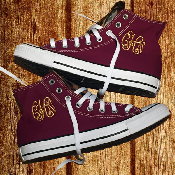 b3934d73cd2a53 Customized Converse Sneakers- Wine Cheetah Print – Monogram Eye Candy