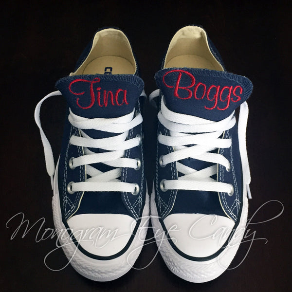 Monogram Converse Sneakers- Navy
