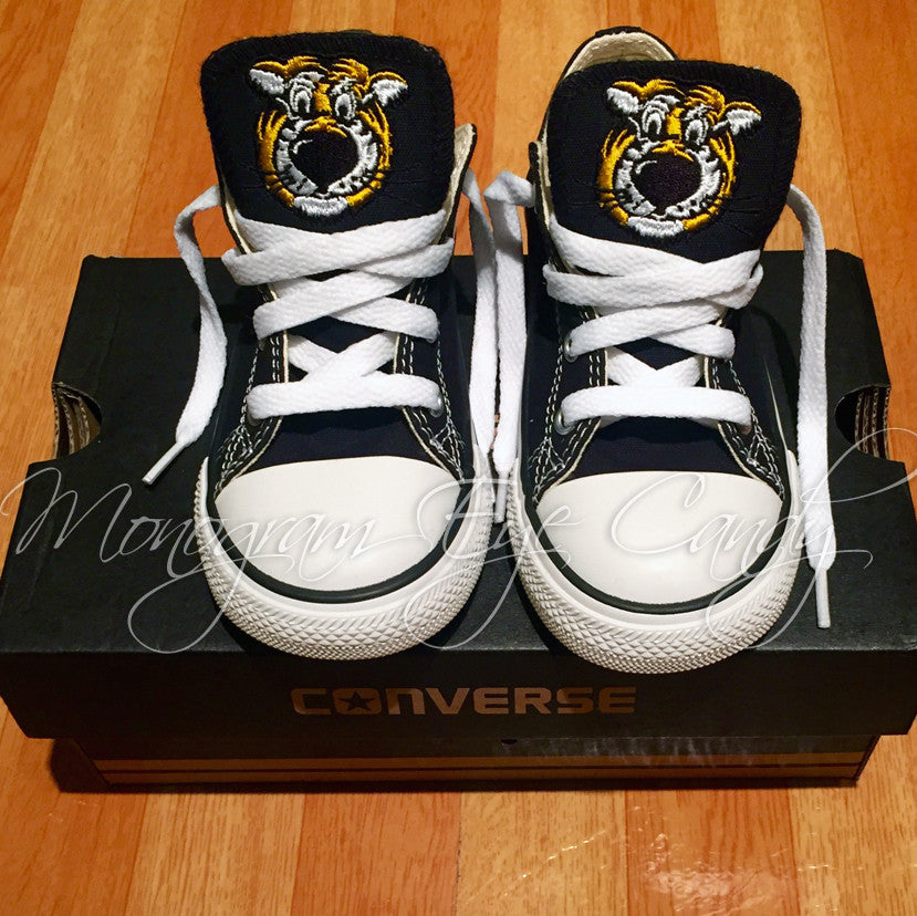 766a099679b1f0 Customized Converse Sneakers- Truman Edition (Toddler)- Low Top – Monogram  Eye Candy